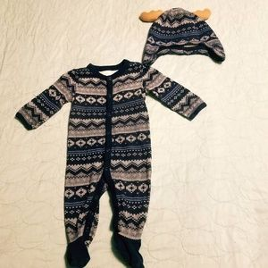 Gymboree Mouse and Moose One Piece Outfit and Hat